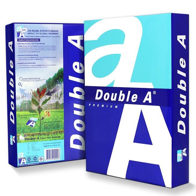 Giấy in Double A A4 định lượng 70gsm 500 tờ