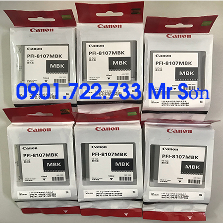 Mực PFI-8107 (MBK/BK/C/M/Y)