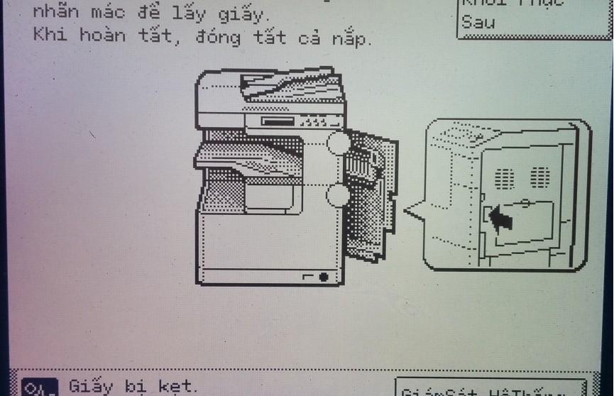 xử lý kẹt giấy ở cụm sấy của máy Canon IR2525